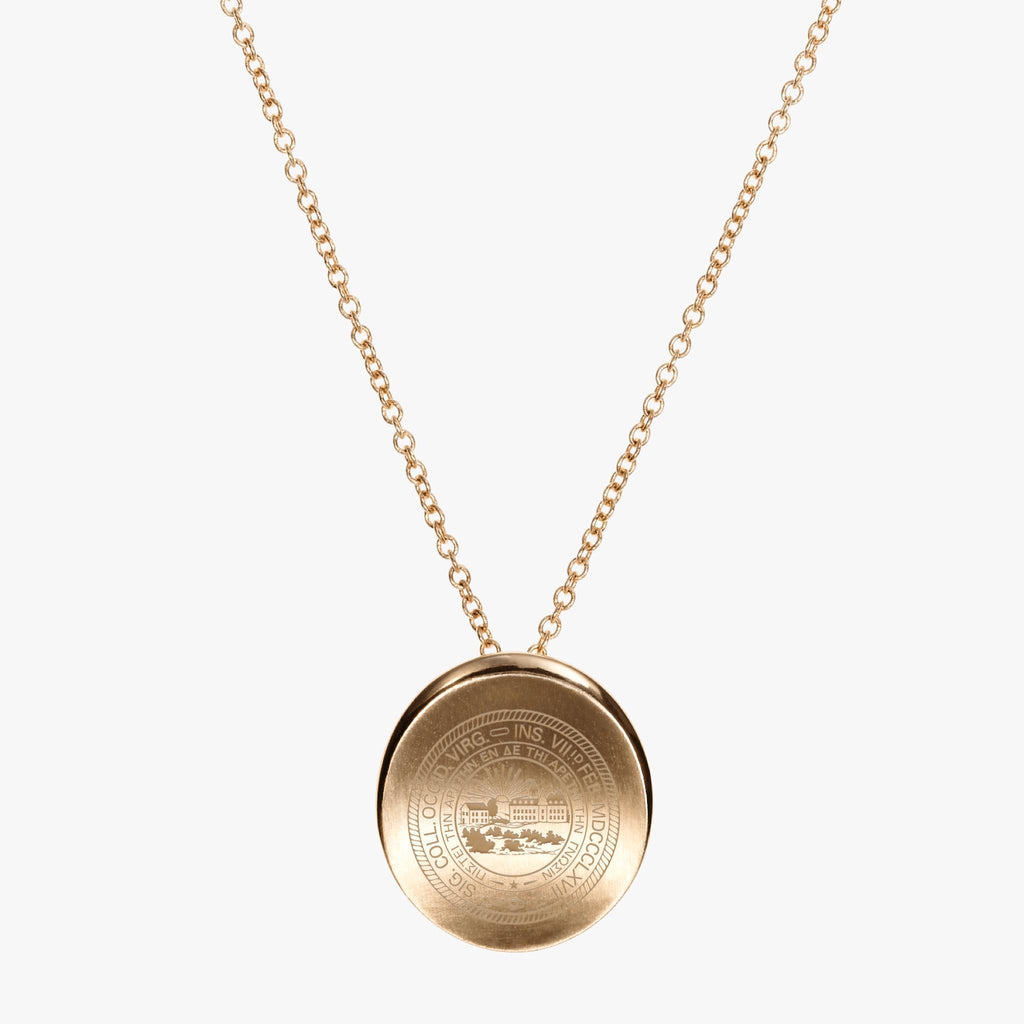 Gold West Virginia Organic Necklace