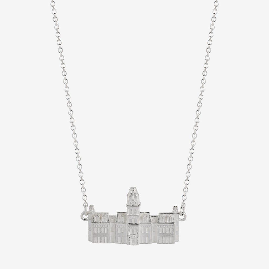 West Virginia Woodburn Hall Necklace Sterling Silver