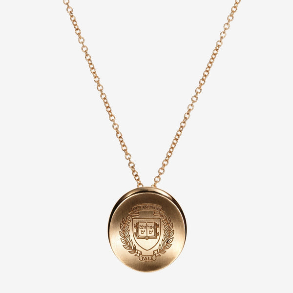 Gold Yale Organic Crest Necklace