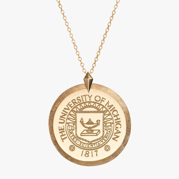Michigan Crest Florentine Necklace