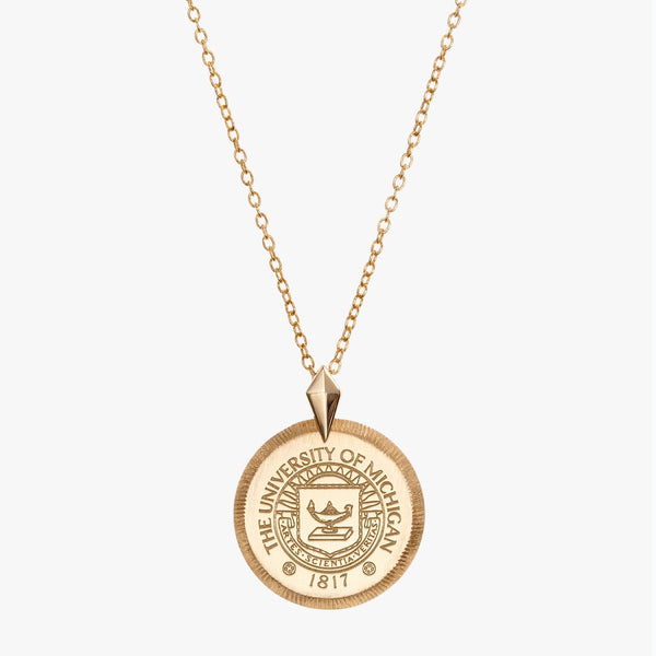 Michigan Crest Florentine Necklace Petite