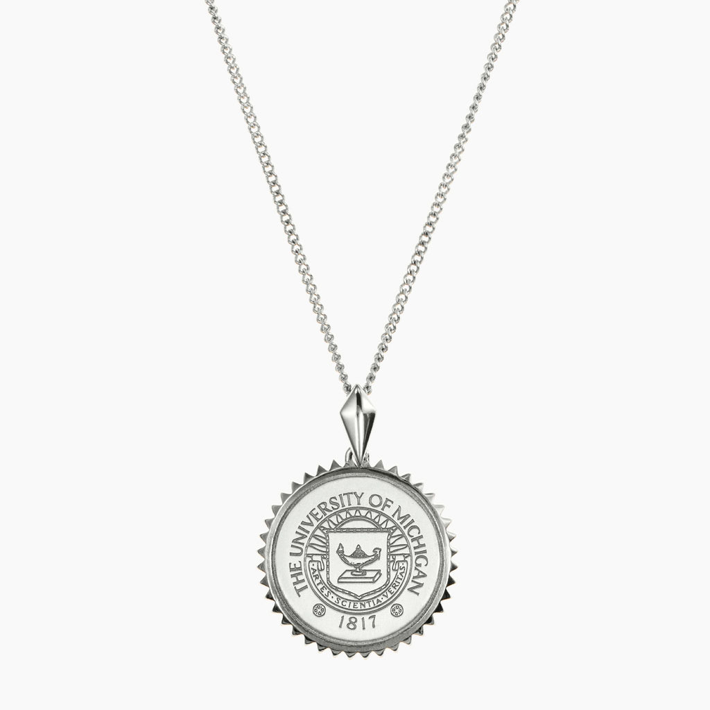 Michigan Sunburst Crest Necklace