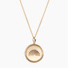 Gold Sunburst Pride Rainbow Necklace