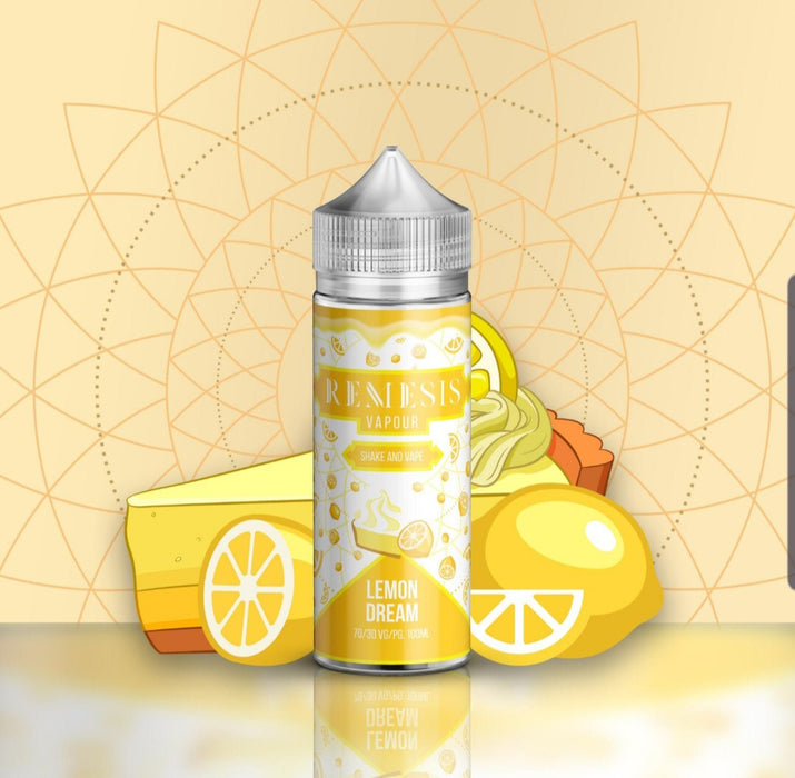 Lemon Dream Remesis 100ml E-Liquid Shortfill - Dragon Vapour