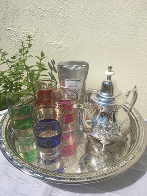 Moroccan Tea glasses , Moroccan Tea Pots and Trays