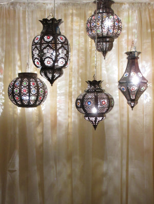 Authentic Moroccan Lanterns and Ceiling Lights