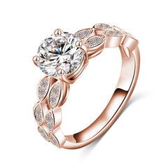 Elora Jewelry:Parapet Ring,rings,6 / Rose Gold