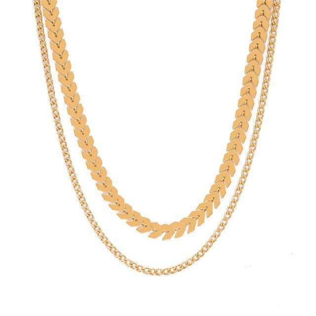 Elora Jewelry:Latitude Necklace,necklaces,Gold