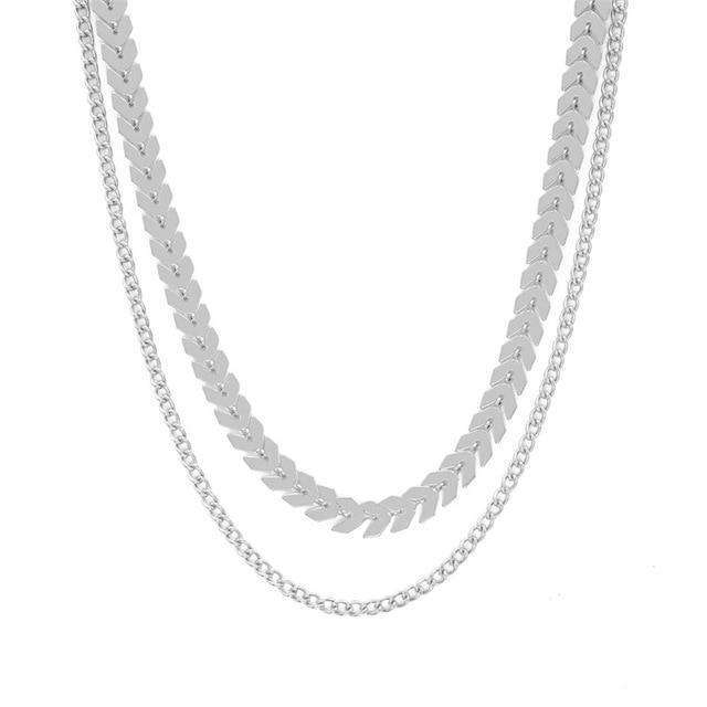 Elora Jewelry:Latitude Necklace,necklaces,Silver