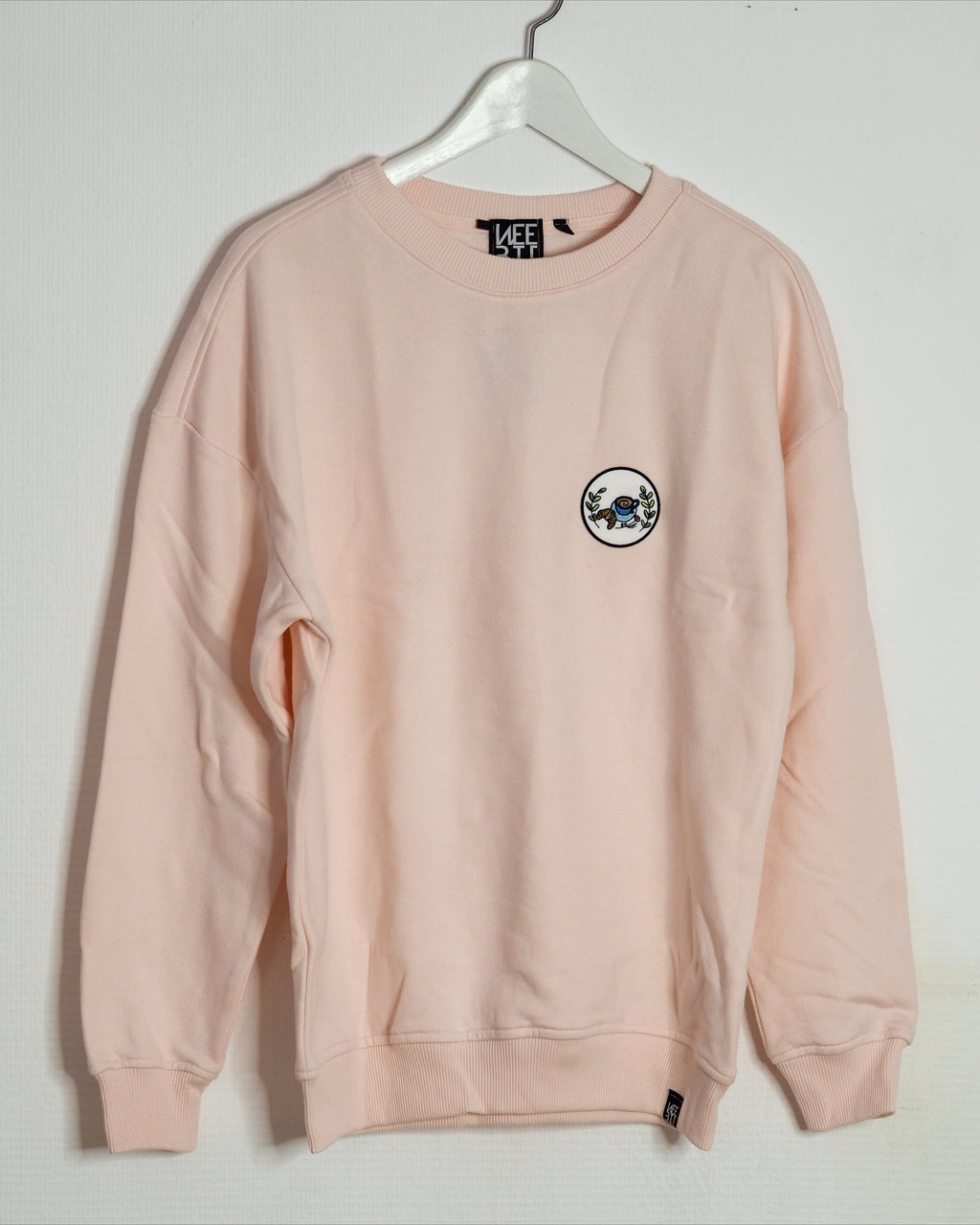 OUTLET / ROSA OVERSIZE SWEATER COFFEE & CROISSANT PATCH