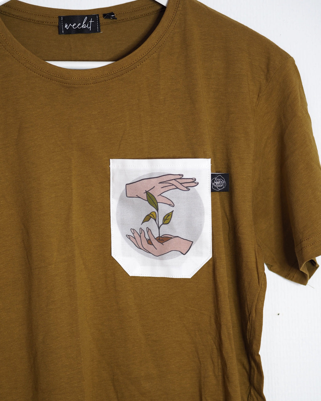 OUTLET / PLANTLOVER POCKET SHIRT CARAMEL