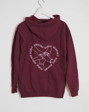 OUTLET / GIRLS SUPPORT GIRLS ZIPPER BURGUNDY