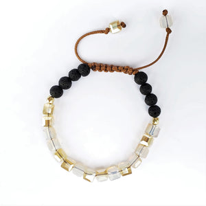 Champagne Glass Adjustable Lava Stone Diffuser Bracelet