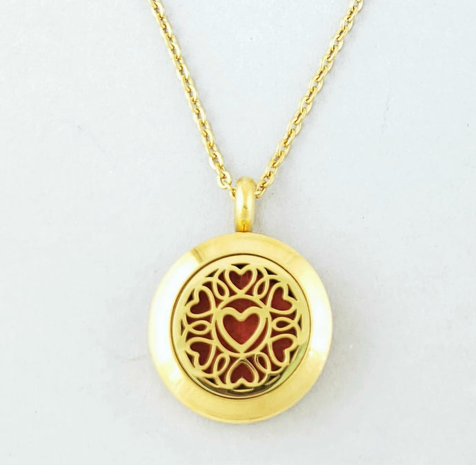 Circle of Hearts Mini Pendant Necklace