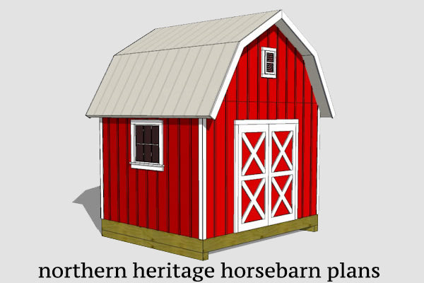 Barn Storage Plans - Gambrel Sheds