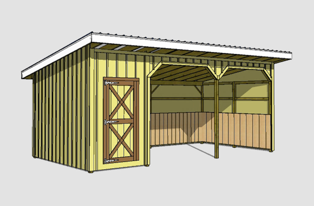 Run In Horse Barn Plans