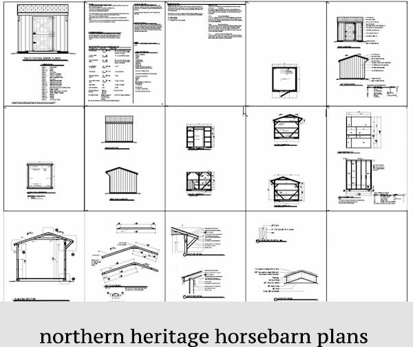 10x10  Horse Barn Plan- one stall