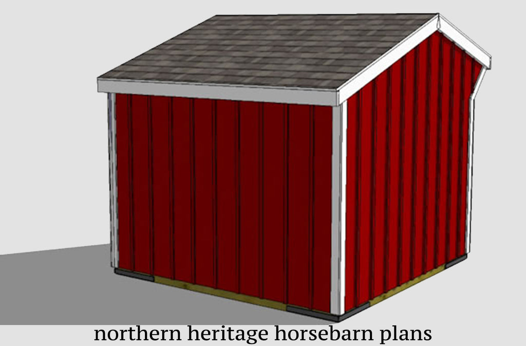 10x10 Run in/loafing Horse Barn Plan
