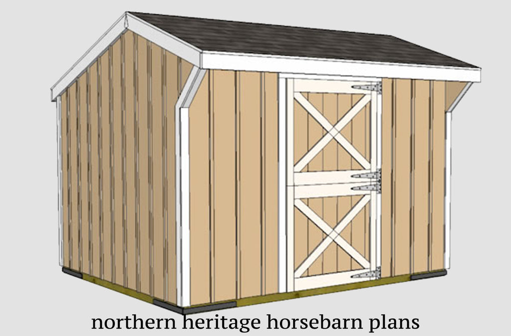 10x12 Horse Barn Plan - one stall