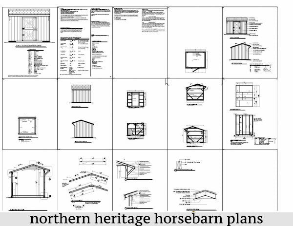 10x18 Horse Barn Plan with added tack room bonus