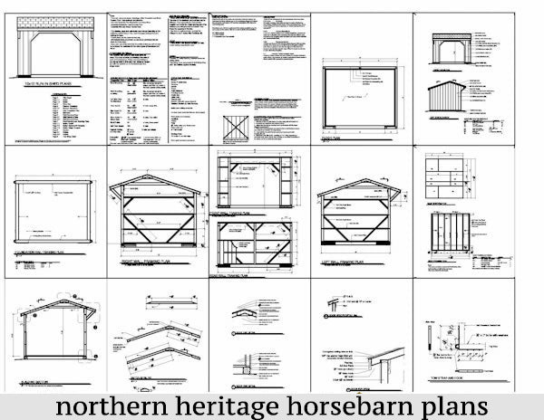 10x12 Run in/loafing Horse Barn Plan