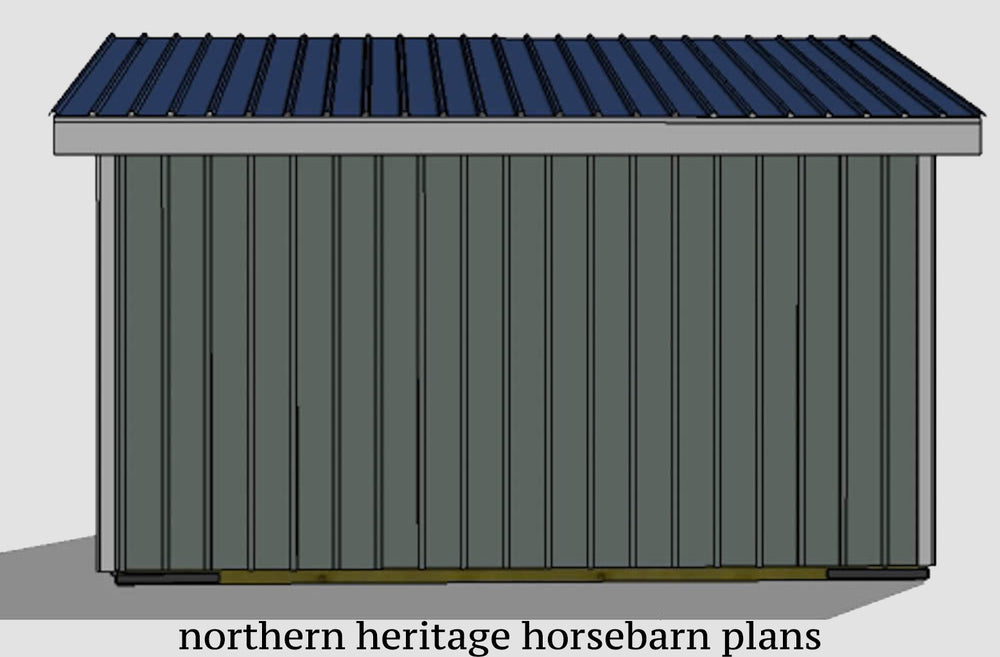 10x16 Run in/loafing Horse Barn Plan
