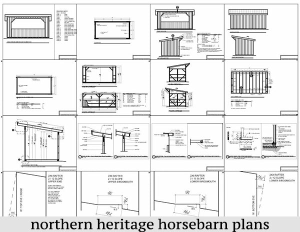10x20 Run in/loafing Horse Barn Plan
