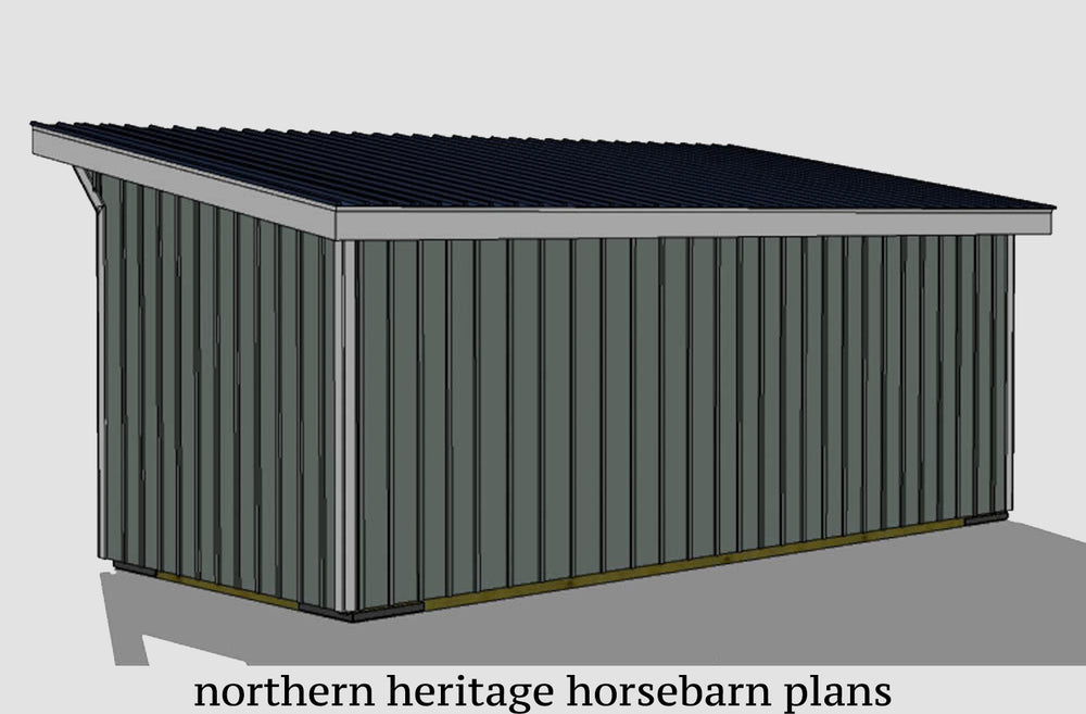 10x24 Run in/loafing Horse Barn Plan