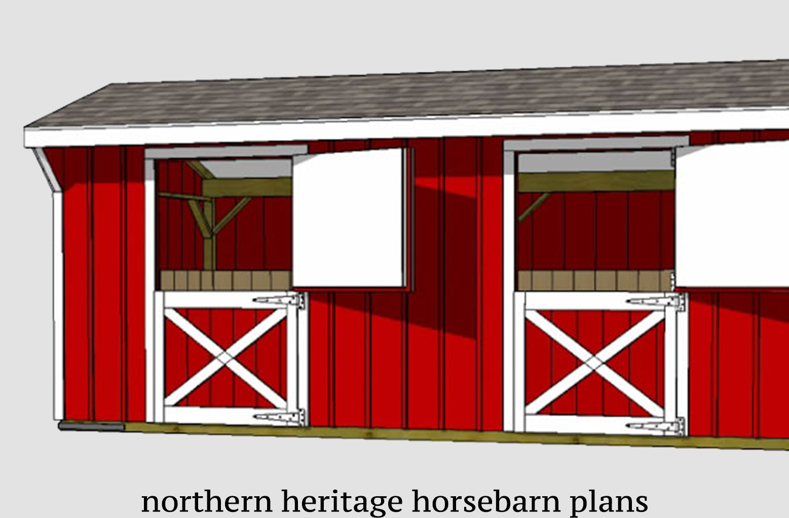 Large Horse Barn Plans Northern Heritage Horsebarn Plans