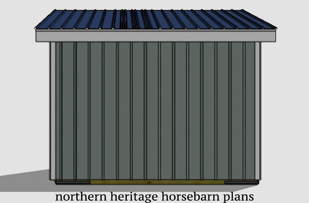12x12 Run in/loafing Horse Barn Plan