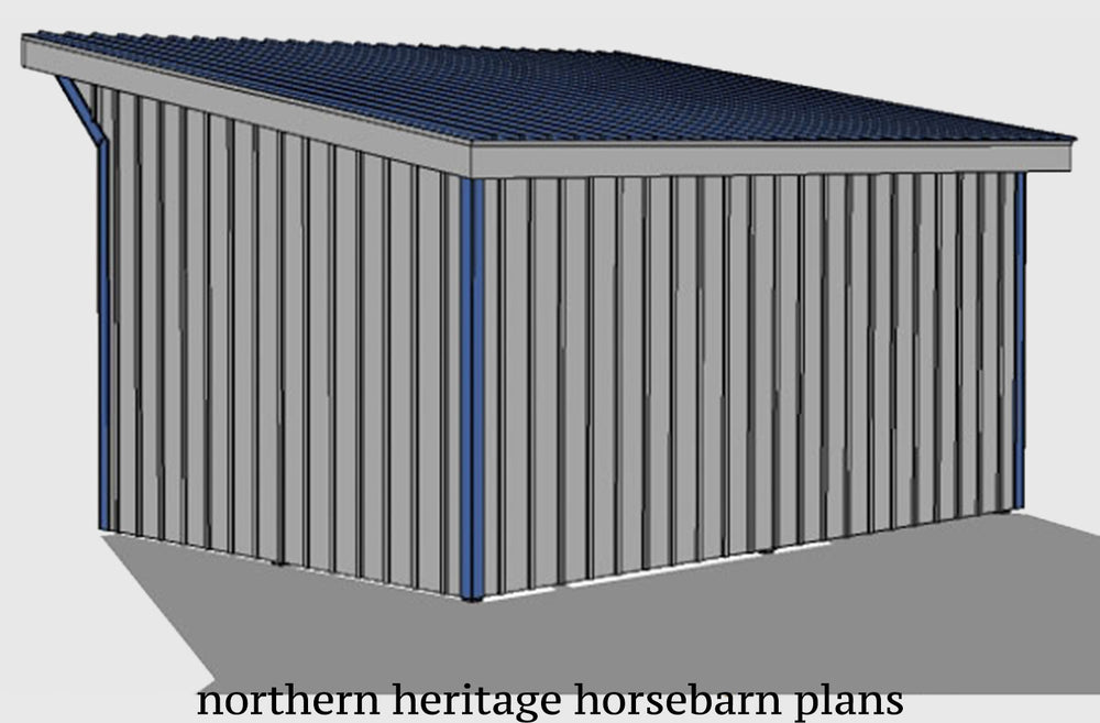 12x20 Run in/loafing Horse Barn Plan