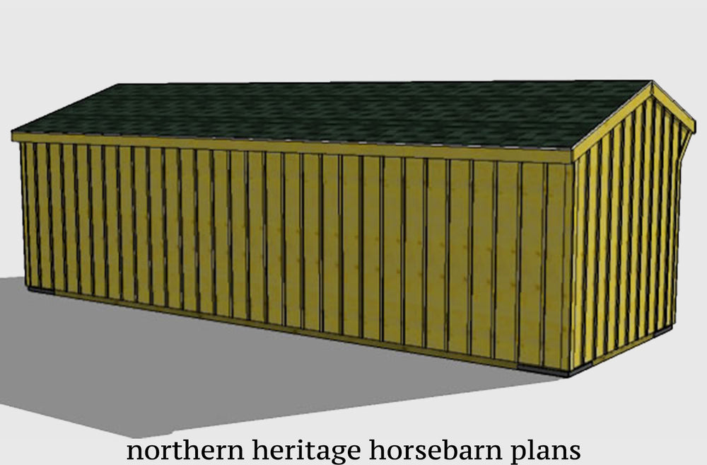 12x30 Horse Barn Plan with added tack room bonus- 2 stall