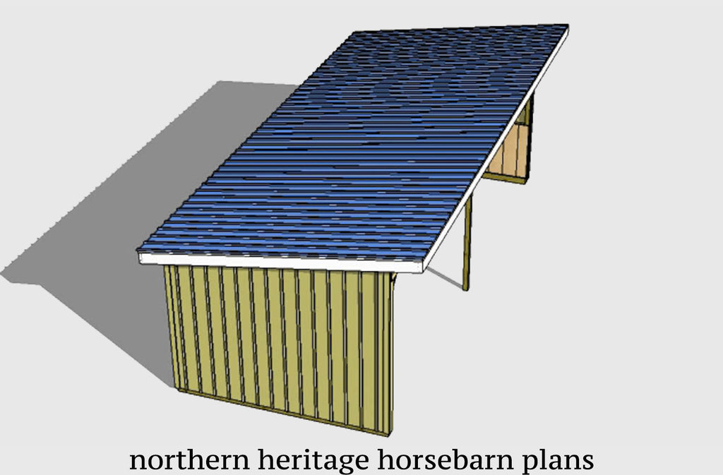 12x30 Run in/loafing Horse Barn Plan