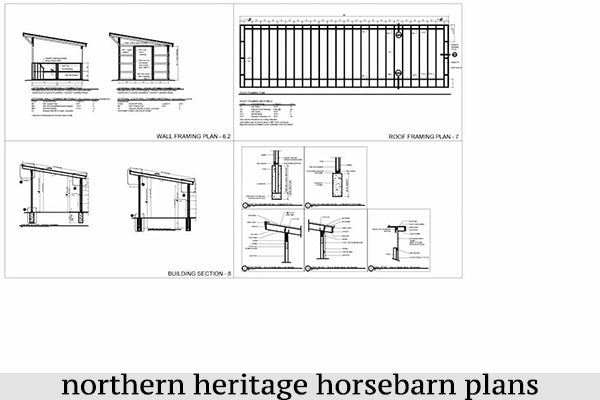 12x48 Run in/loafing Horse Barn Plan