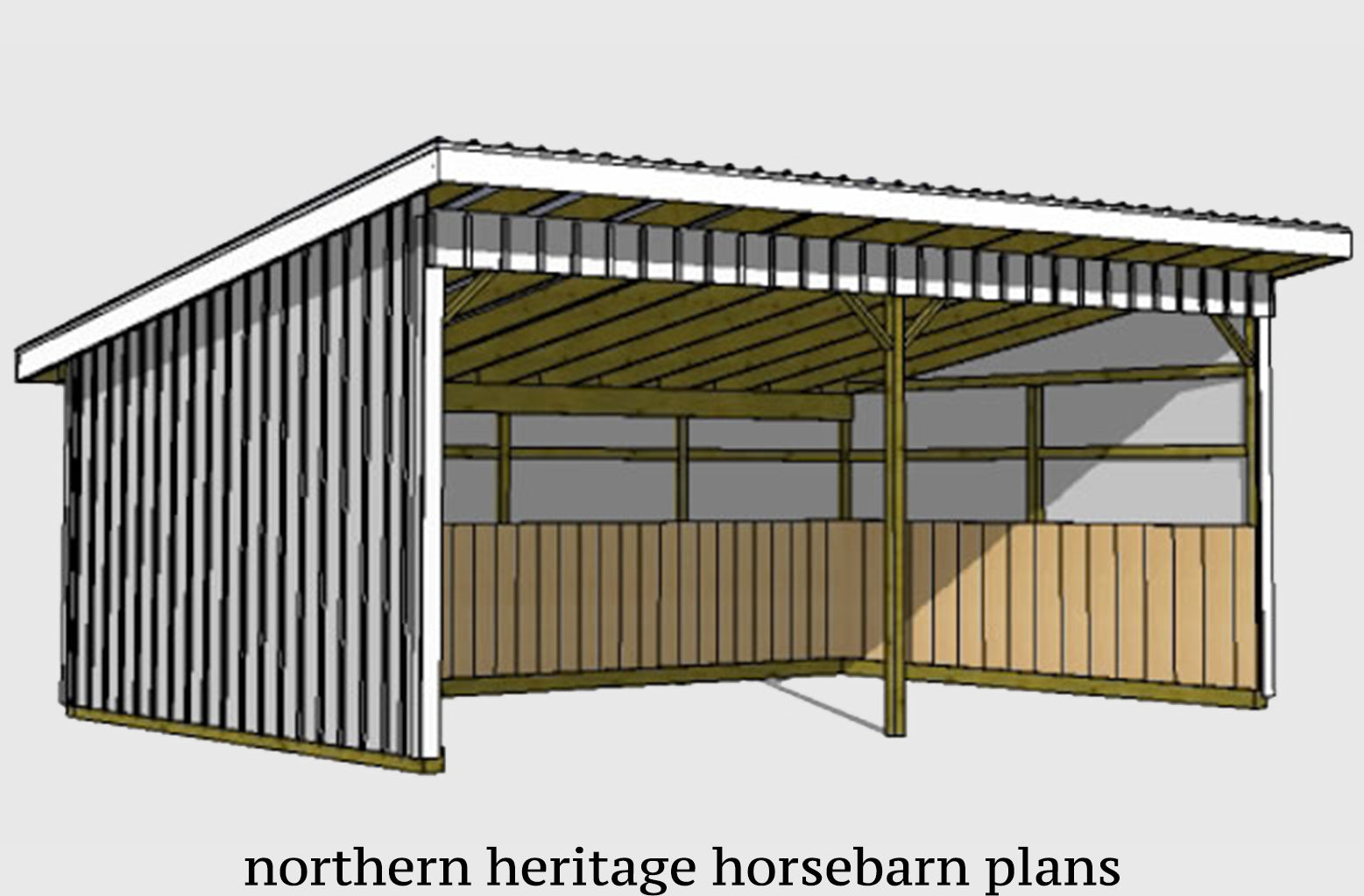 Ready To Build Pole Barn Plans Blueprints For Sale Northern Heritage Horsebarn Plans
