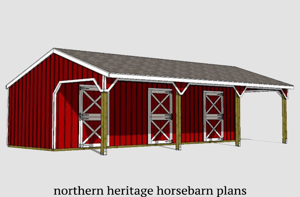 Large Horse Barn Plans Page 2 Northern Heritage Horsebarn Plans