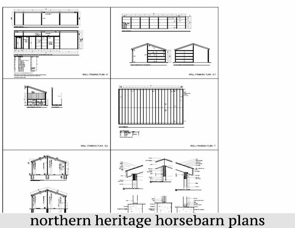 22x42 Horse Barn Plan with added tack room & attached Run In Barn/optional storage- 3 stall