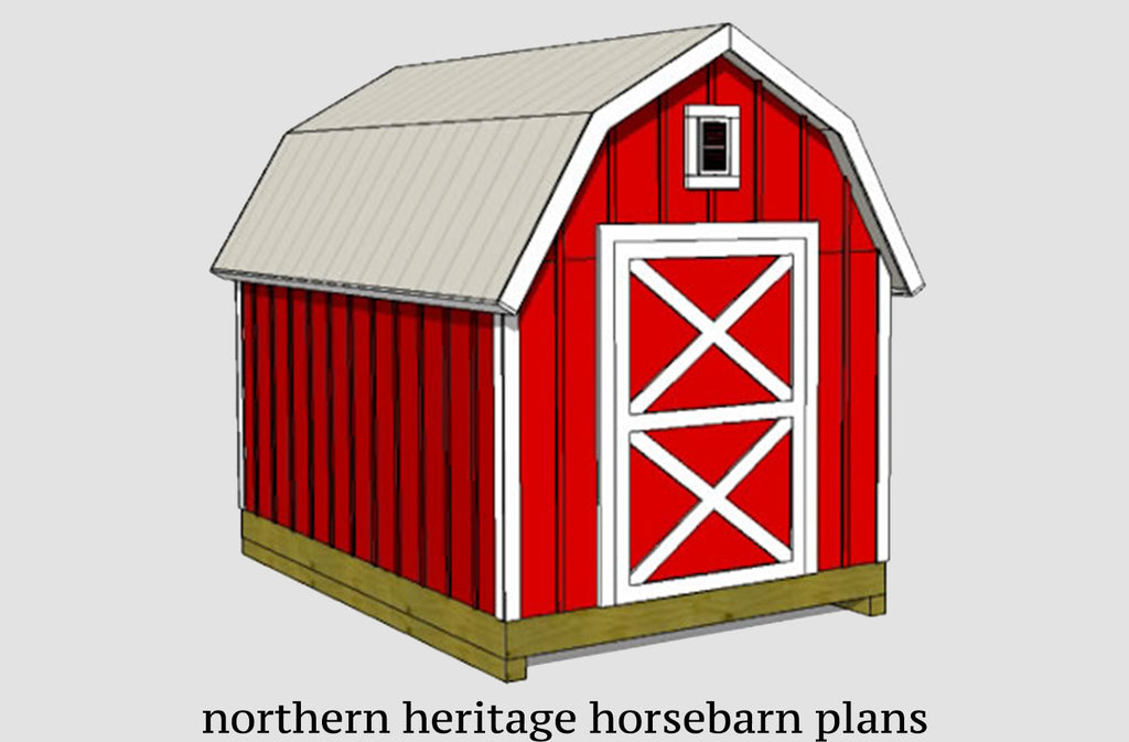 8x12 Gambrel Barn Shed Plans