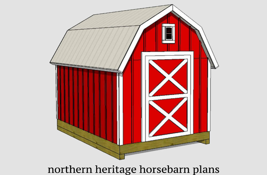 8x14 Gambrel Shed Plan