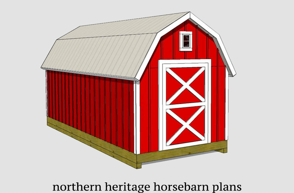8x20 Gambrel Shed Plan