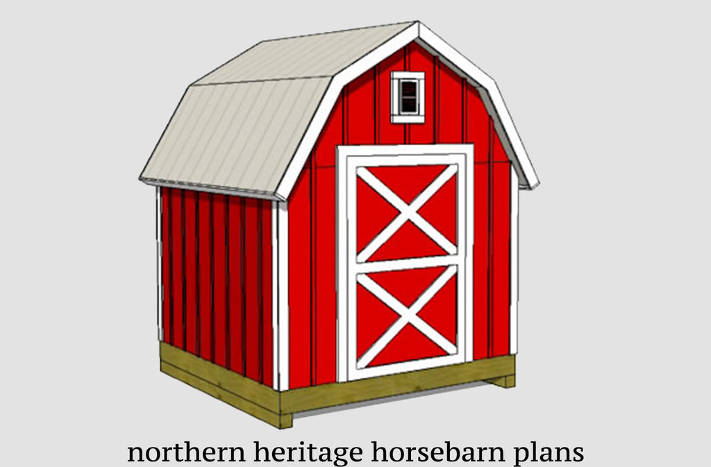 8x10 Gambrel Barn Shed Plan