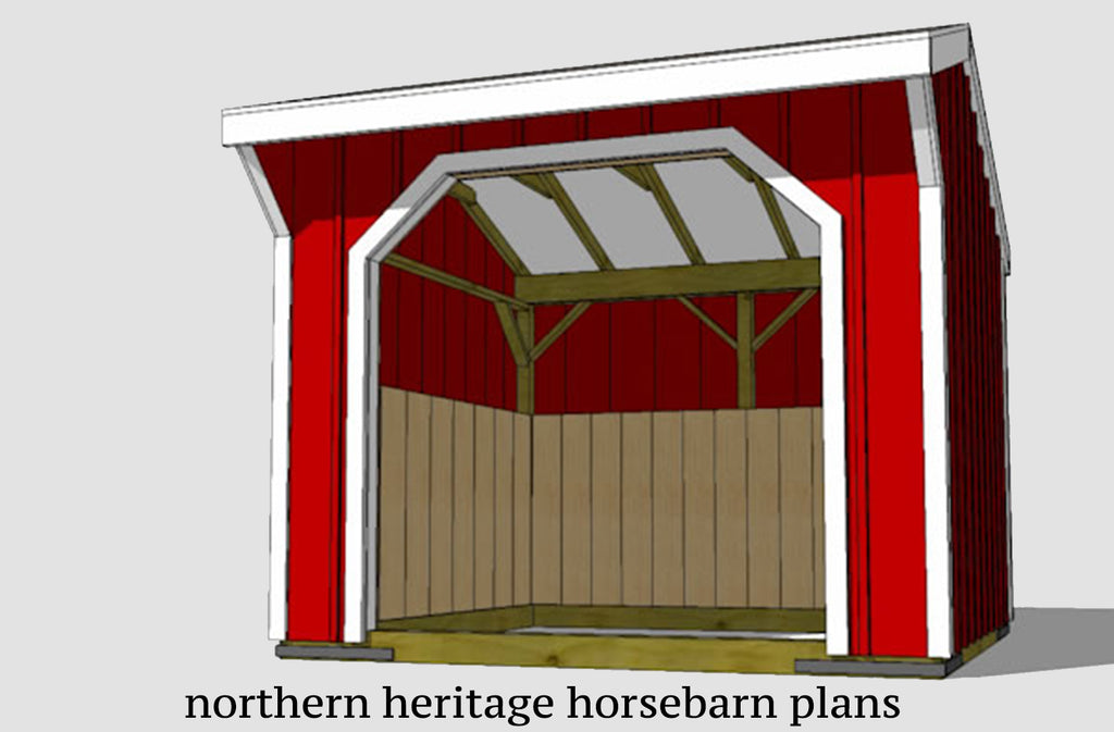 8x8 Run in/loafing Barn Plan for small animals