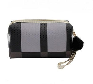Monochromatic Colorblocked Cosmetic Bag