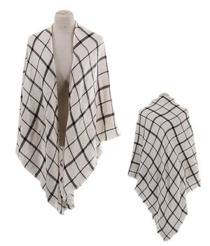 Grid Triangle Scarf