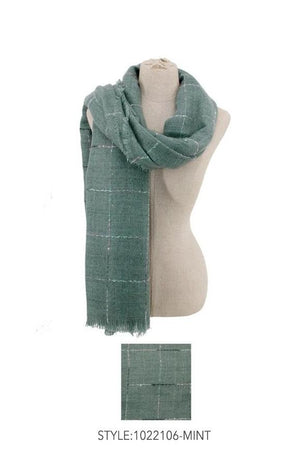 Mint Plaid Scarf
