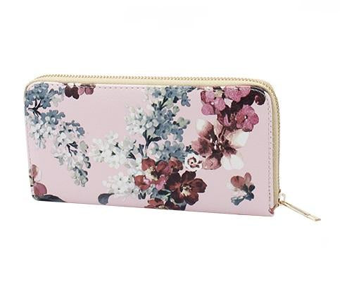 Cherry Blossom Floral Wallet
