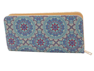Mandala Single Zip Wallet