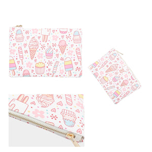 Ice Cream Doodle Cosmetic Bag