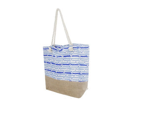 Watercolor Anchor Tote Bag