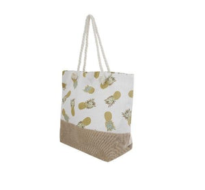 Printed Pineapple Tote Bag